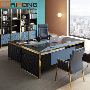 Blue Gold luxury executive office desk