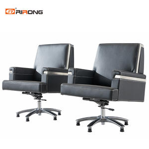 Black White Leather Office Middle Back Visitor Luxury Office Chair