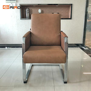 Brown Leather Office Visitior Conference Meeting  Room Chairs