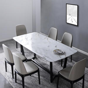 Carrara White marble dining table