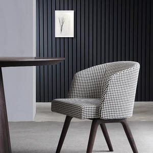 Modern Fabric Dining Chair with wood frame