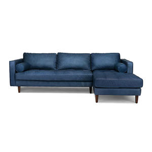 Blue leather Living Room Sofa Set