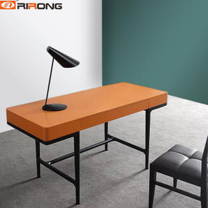 Orange Study Table Set computer desk