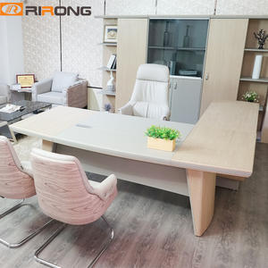 Luxury Office Furniture Director Manager L shape Wooden Executive Desk