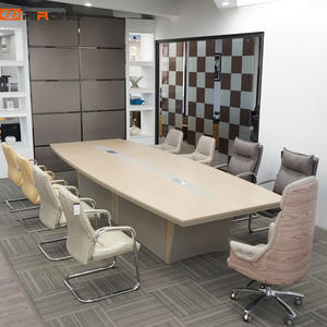 Custom Leather Wooden Office Meeting Conference Table for 20 people