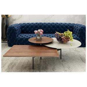 Wood Color Modular Marble Coffee table