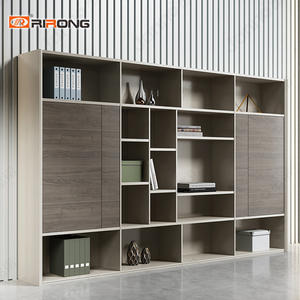 Walnut Color Wood 2.4m office bookcase