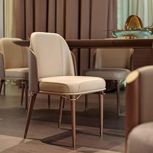 Leather Fabric Modern Dining Chair
