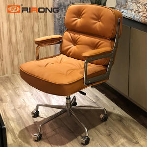 Orange Modern Leather office chair