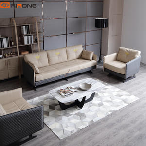 genuine leather office elegant sofa