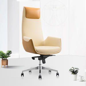 Yellow Green Office Swivel Executive Manager Leather Desk Chair