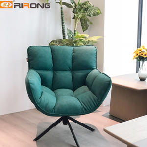 Green Gray Home office Sofa chair leather leisure chair lounge chair