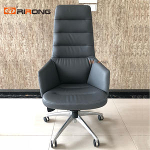 Orange Grey Leather Office chair