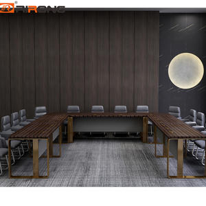 Wooden Custom Meeting U shape Conference Table For 20 person