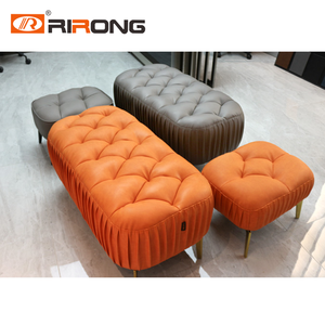 Living room Sofa chair footstool Leather