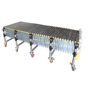 No power flexible gravity roller conveyor