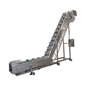 Inclined Double Cups Conveyor With Customized Sizes