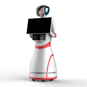 smart service robot has a high-definition screen and smart functions, which can help customers achieve commercial use