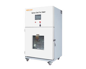 The battery crush test chamber is used for battery crush test.