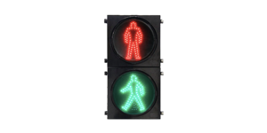 Clear Lens Pedestrian Traffic Light portable traffic light