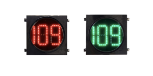 Clear Lens Countdown Timer Traffic Light 200mm led traffic light