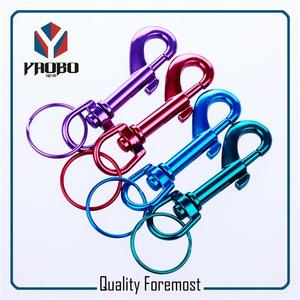 colored Snap Hook with key,colored hook for bag