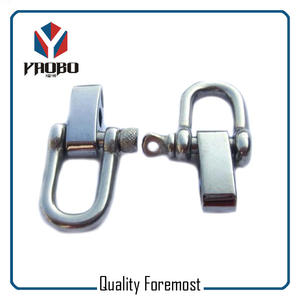 D Shackles With 4 Holes Adjuster,stainless steel D shackles