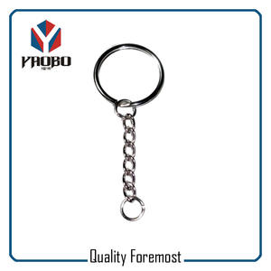 Split Ring With Six Links Chain,split key ring with chains