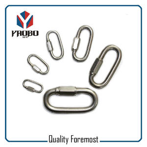Oval Stainless Steel Hooks With Screw,Stainless Steel Climb Carabiner