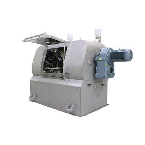 The single-shaft paddle mixer adopts the mixing principle of mixture fluidization.