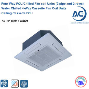 Water Chilled 4-Way Cassette Fan Coil Units 2 Pipe 2 Rows Water Fan Coil