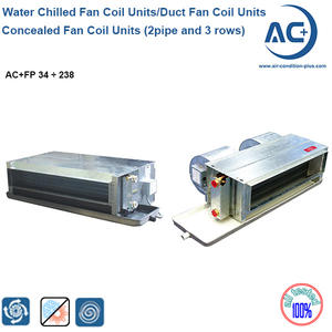 Concealed Duct Fan Coil Units (2pipe And 3 Rows) Water Chilled Fan Coil Units