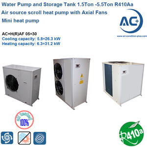 Air Source Heat Pump 1.5Ton -5.5Ton R410A Air To Water Chiller Unit