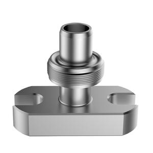 CNC aluminum valve part by turning, milling and machining