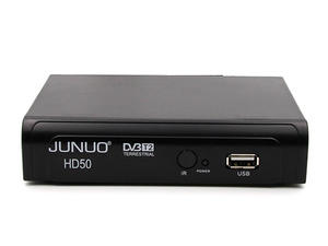 JUNUO Dvb T2 Hd Manufacturer Cable Tv Set Top Box  Support MPEG-2/4 Standard