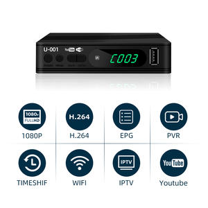Junuo Digital Receiver Manufacturer Dvb T2 Tv Box USB by Software Upgrade