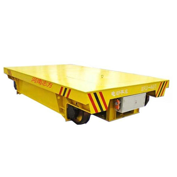 High Quality Battery Rail Flat Bed Trolley