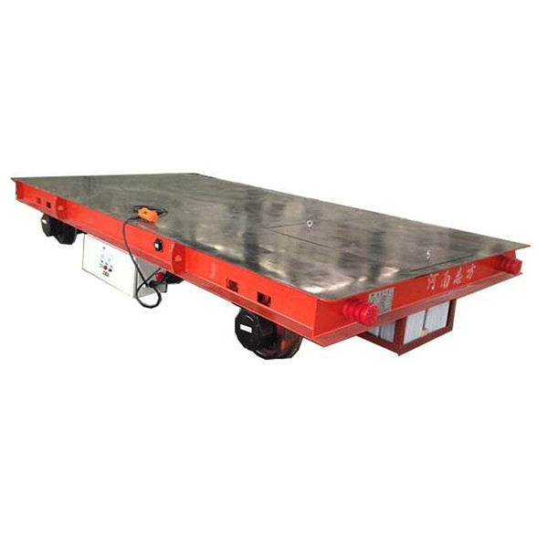 CE Battery Rail Flat Bed Trolley