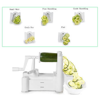 5-blades vegetable spiral slicer,vegetable spiralizer itemprop=