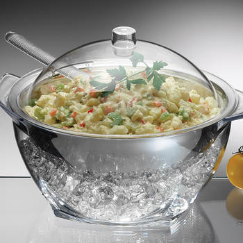 Iced Salad Bowl Chilled salad bowl on ice with lid itemprop=