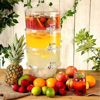 3 Tier Beverage Dispenser, Juice Dispenser itemprop=