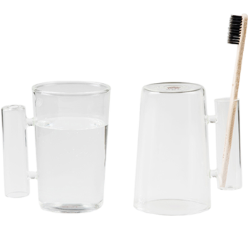 Glass Tea and Coffee Cup with a Handle,Glass Washing Cup, Tooth Cup itemprop=