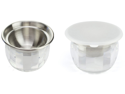 Stainless Steel Dip Chilled Bowl with Acrylic Ice Chamber Bowl