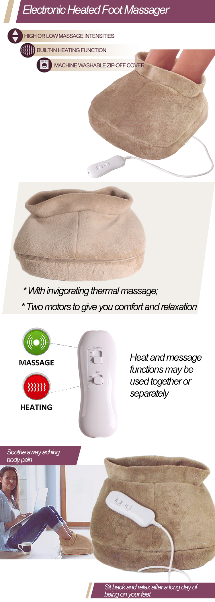 Electronic Heated Foot Massager