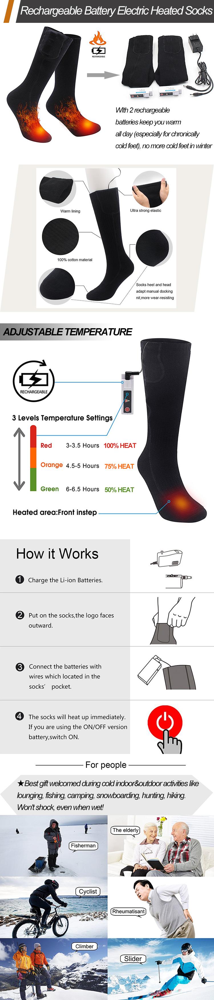 Electric Heated Socks