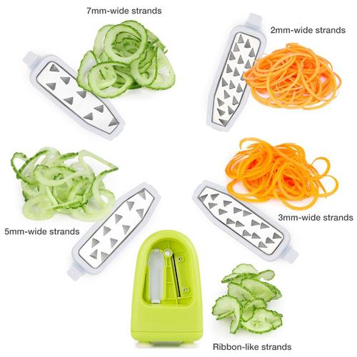 5 blades spiral slicer,vegetable spiral slicer spiralizer