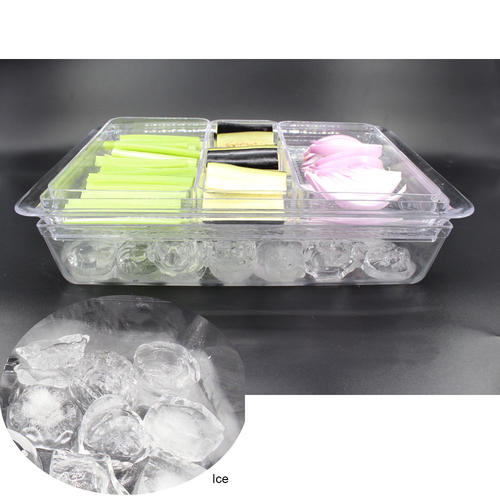 Portable 3 Section Dividers Serving Tray