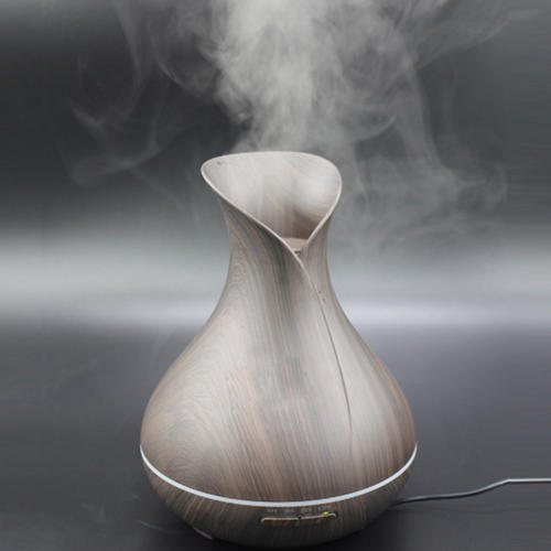 Wood Grain Color Change Cool Mist Aroma Humidifier