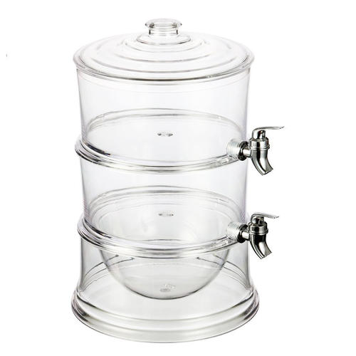 2 Tier Beverage Dispenser,Juice Dispenser