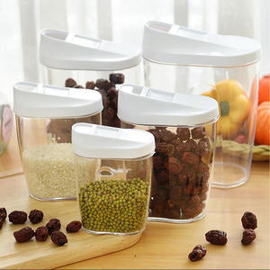 Plastic Food Storage Jars Canister Set Storage Container
